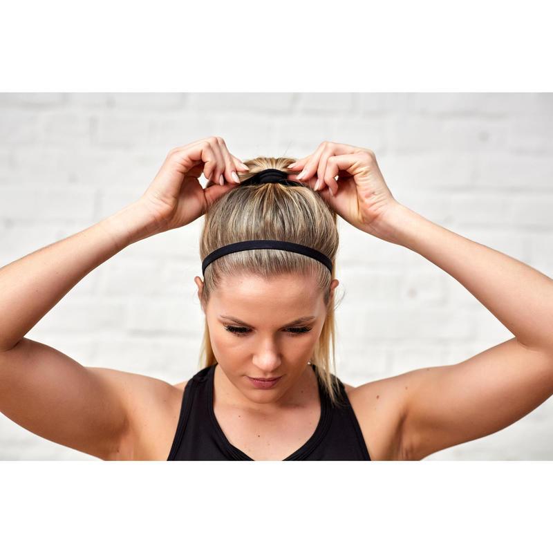 célèbre marque de designer sélection premium mode Accessoires (serviettes, bidons..) - Bandeaux élastiques x3 fitness cardio  training rose et noir