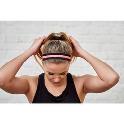 Bandeaux élastiques x3 fitness cardio training rose et noir