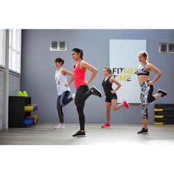 女款中度有氧健身訓練鞋120-黑色