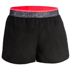 100 Women's Fitness Cardio Training Loose-Fit Shorts - Black