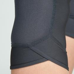 Legging 7/8 fitness cardio training femme gris 500