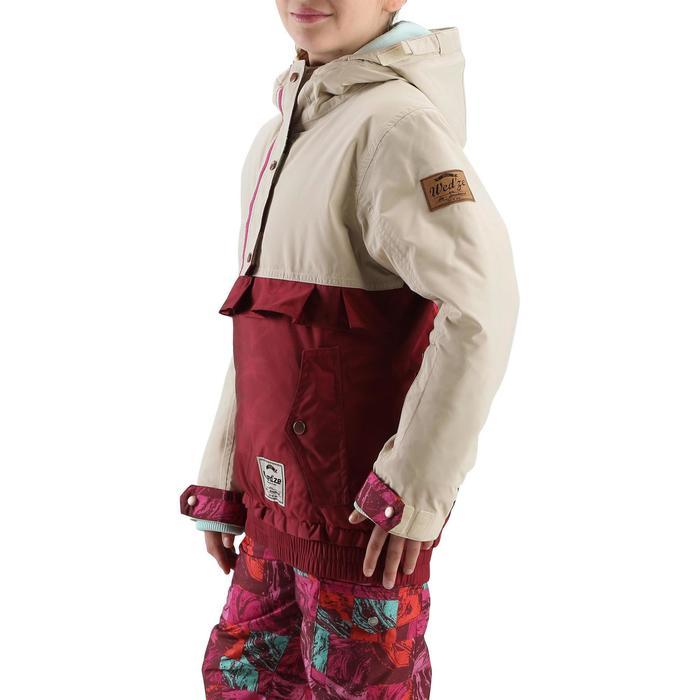 Veste ski enfant fille MIDSTYLE bordeaux et beige - 167391
