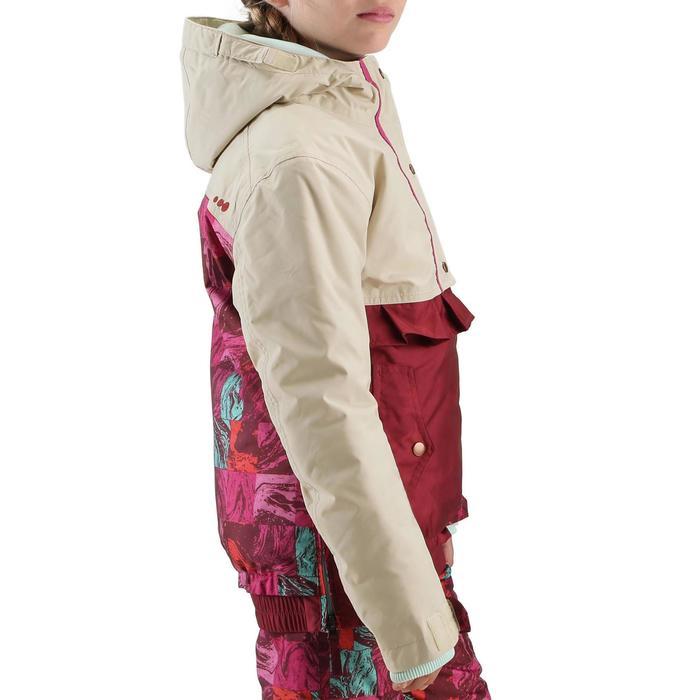 Veste ski enfant fille MIDSTYLE bordeaux et beige - 167394