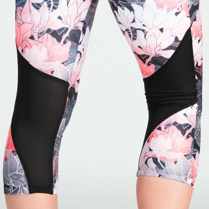 Mallas Leggings deportivos piratas Cardio Fitness Domyos 500 mujer coral floral