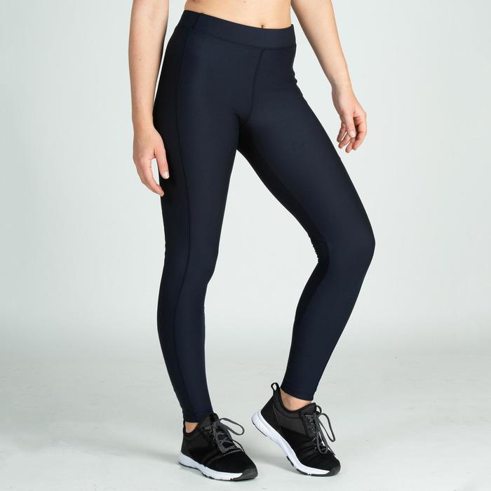 Leggings fitness cardio-training mujer azul marino 120