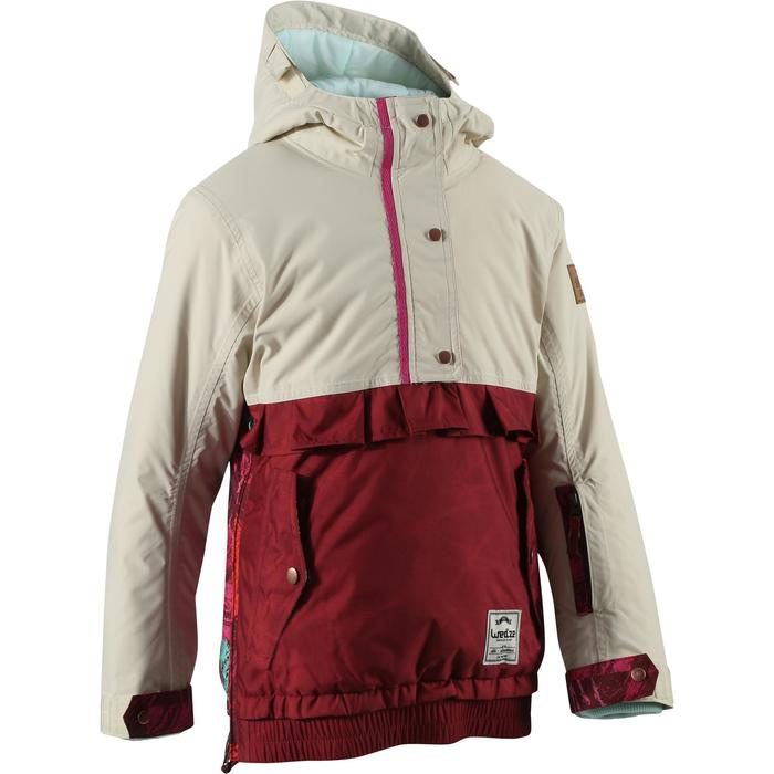 Veste ski enfant fille MIDSTYLE bordeaux et beige - 167396