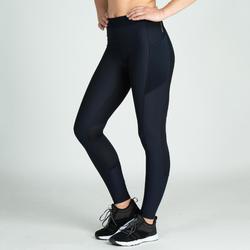 Mallas Leggings Deportivos Cardio Fitness Domyos 120 mujer azul