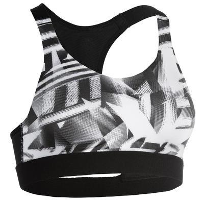 500 Women's Fitness Cardio Training Sports Bra - Print