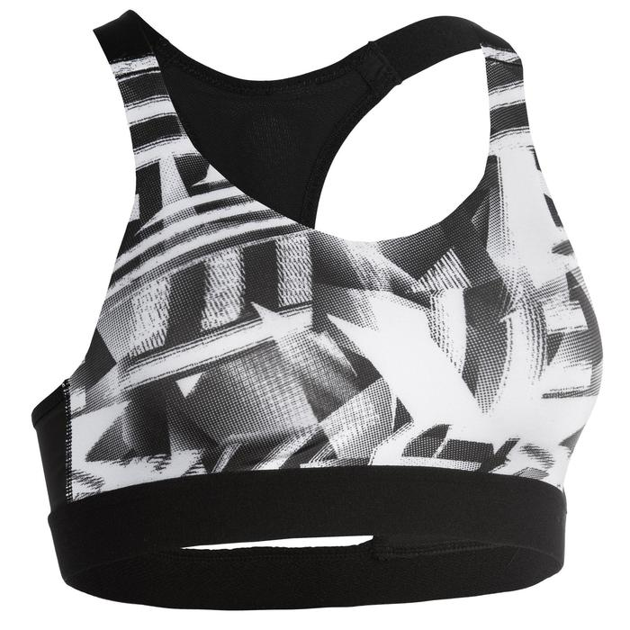 Women's Cardio Fitness Cardio Training Sports Bra 500 - Print