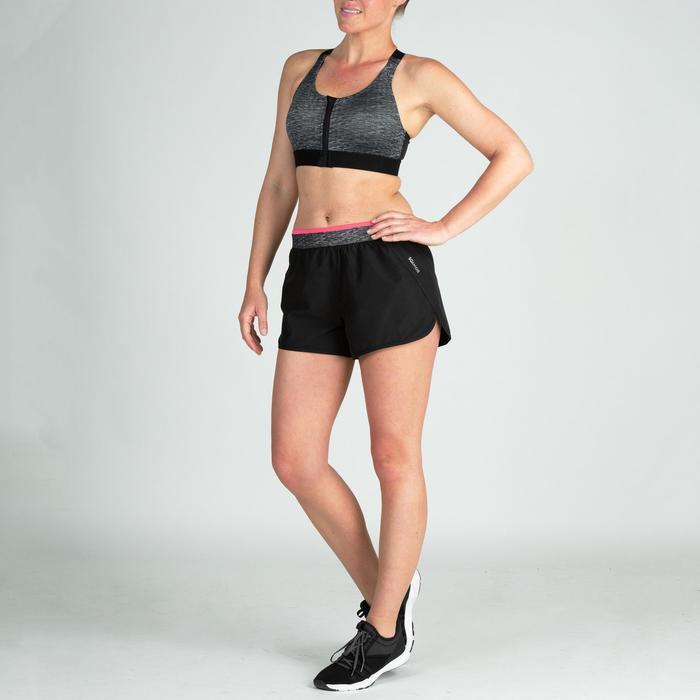 Pantalón corto Short deportivo Cardio Fitness Domyos 100 loose mujer negro