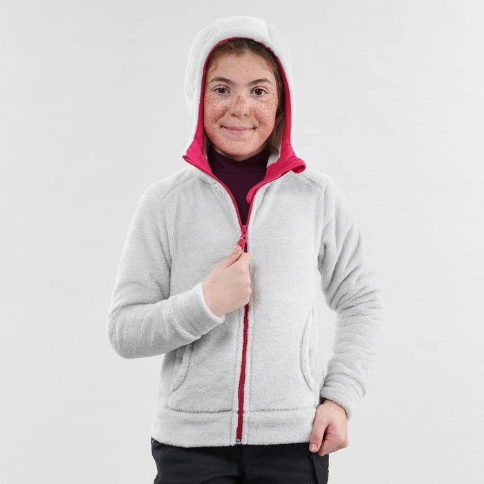 Polaire de randonnée neige junior SH100 warm grise
