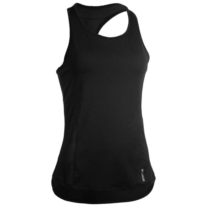 FITNESS CARDIO CONFIRMED WOMAN CLOTHING Fitness and Gym - FTA 520 3-in-1 Tank Top Black DOMYOS - Fitness and Gym