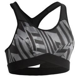 Sport-Bustier FBRA 500 Fitness Cardio Damen Print