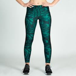 Mallas Leggings Deportivos Cardio Fitness Domyos 120 mujer verde negro