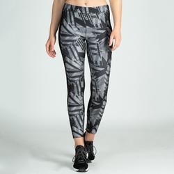 e541f228ec1f1c Mallas Leggings Deportivos Cardio Fitness Domyos 120 mujer gris negro