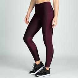 Mallas Leggings Deportivos Cardio Fitness Domyos 120 mujer morado