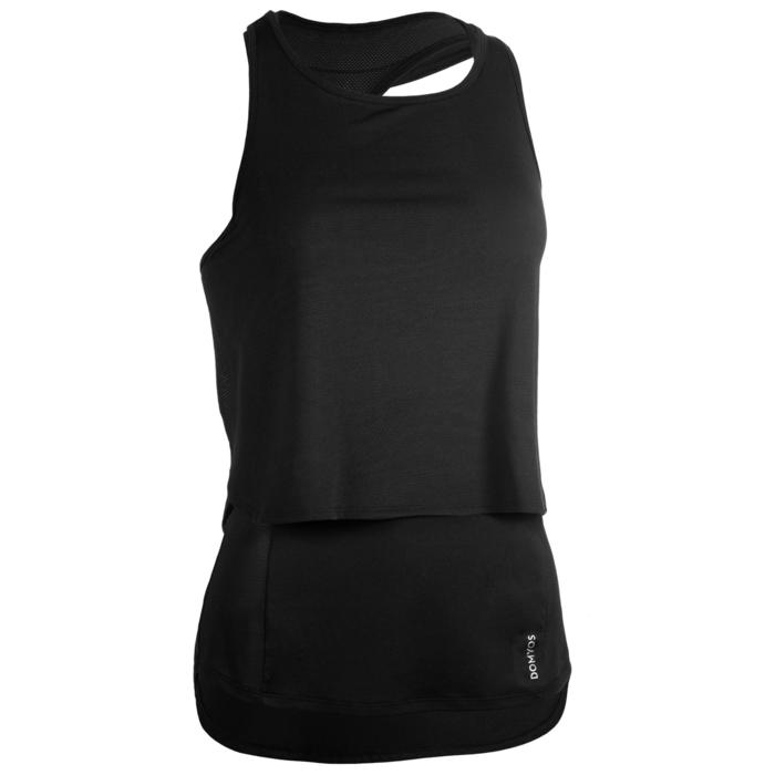 3-in-1 top fitness cardiotraining dames 520 zwart