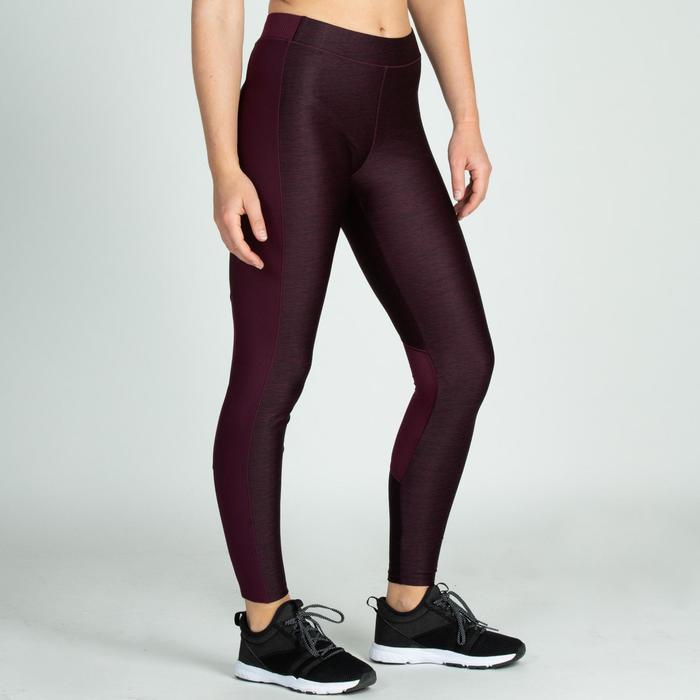 Leggings fitness cardio-training mujer burdeos 120