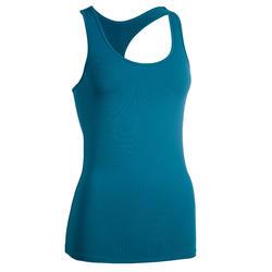 100 Women's Cardio Fitness Tank Top - Blue