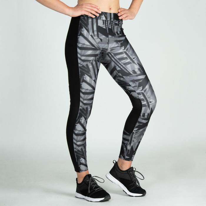 Leggings fitness cardio training mujer gris 120