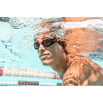 500 SELFIT深色泳鏡鏡片 L號 200度