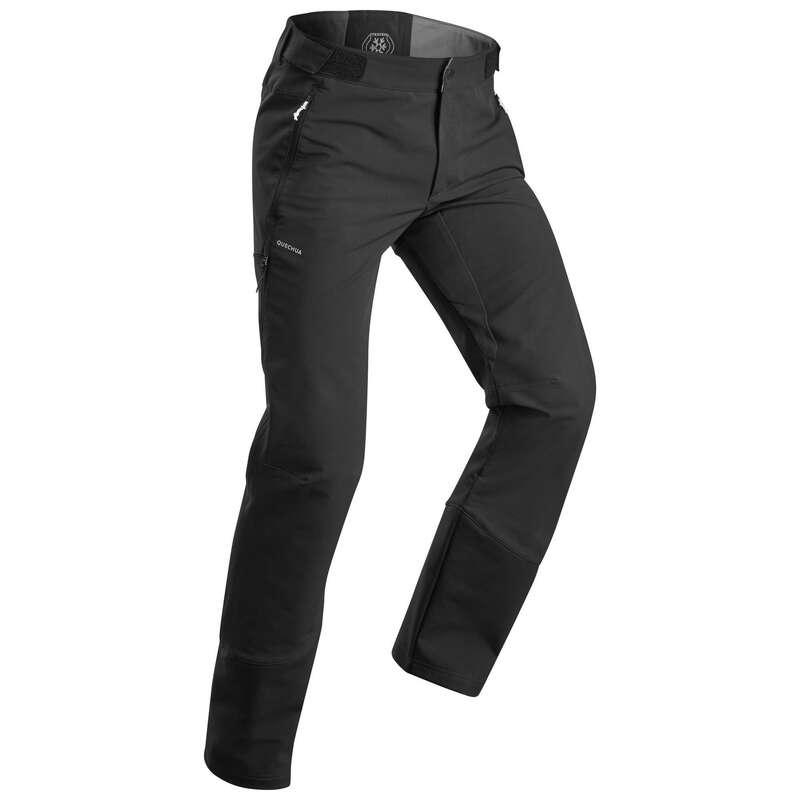 PANTALONI&POLARE DRUMEȚII ZĂPADĂ BĂRBAȚI Drumetie,Trekking - Pantalon SH520 Negru Bărbaţi QUECHUA - Imbracaminte