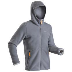Fleece vest voor sneeuwwandelen heren SH100 Ultra-warm grijs