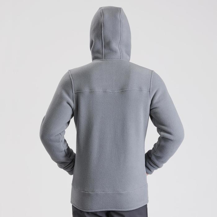 Chaqueta polar de senderismo nieve hombre SH100 ultra-warm gris