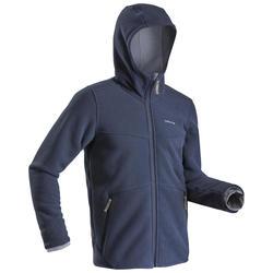 男款極致保暖雪地健行刷毛SH500-深藍色
