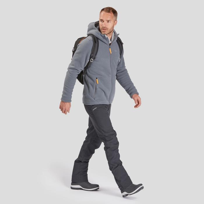 Men's Warm Fleece Hiking Jacket - SH100 U-WARM