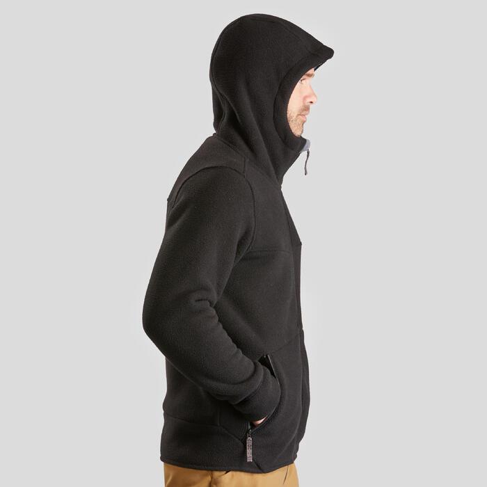 Chaqueta polar de senderismo nieve hombre SH100 ultra-warm negro