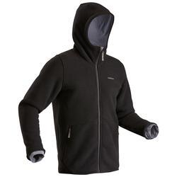 Men's Snow Hiking Fleece Jacket SH100 Ultra-Warm - Black