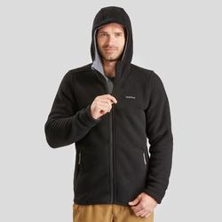 Veste polaire de randonnée neige homme SH100 ultra-warm noire