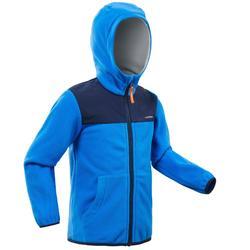 兒童款2到6歲健行刷毛外套SH500-藍色