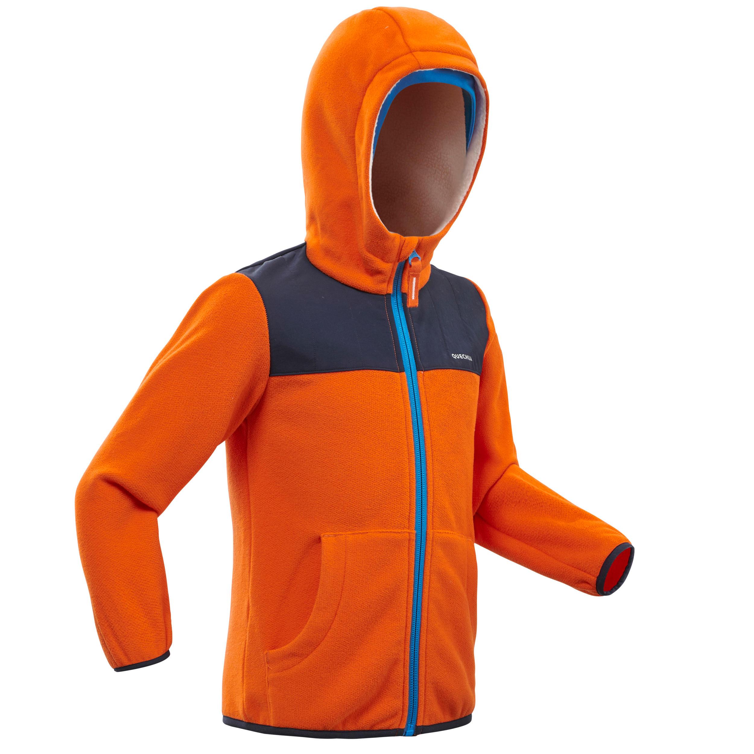 Polaire de randonnée enfant sh 500 orange 2 6 ans quechua