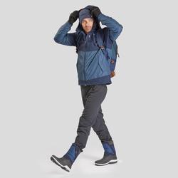 Bottes de randonnée neige homme SH500 x-warm bleues.