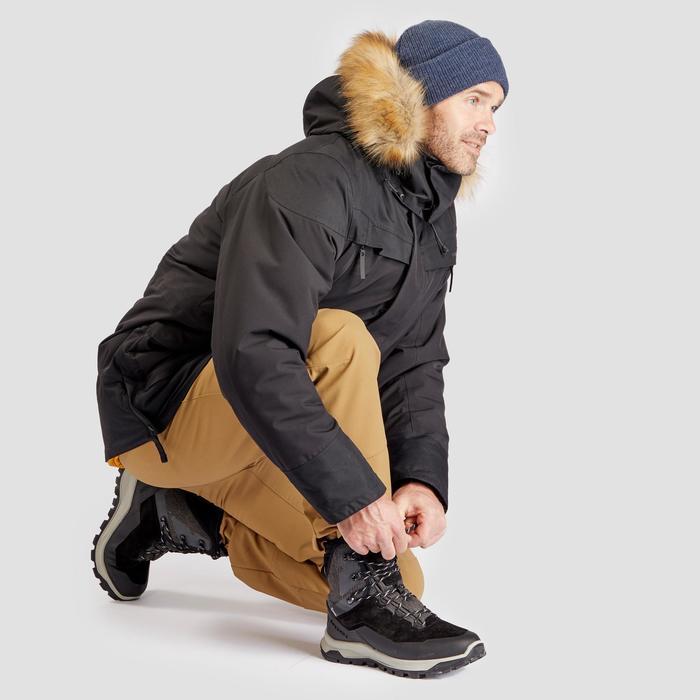 Chaussures de randonnée neige homme SH500 u-warm high noires.
