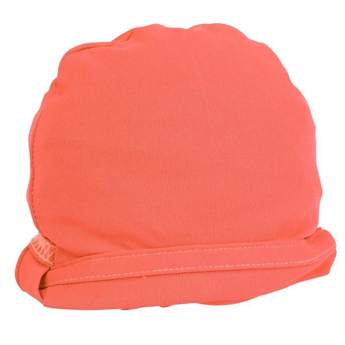 Uv-werend zwemshirt met korte mouwen voor kinderen surfen koraal