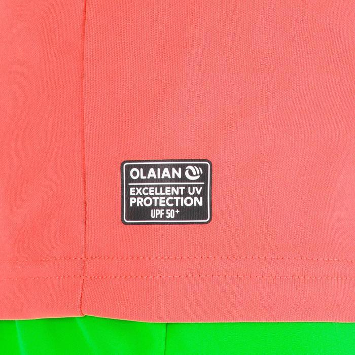Uv-werend zwemshirt met korte mouwen voor kinderen oranje