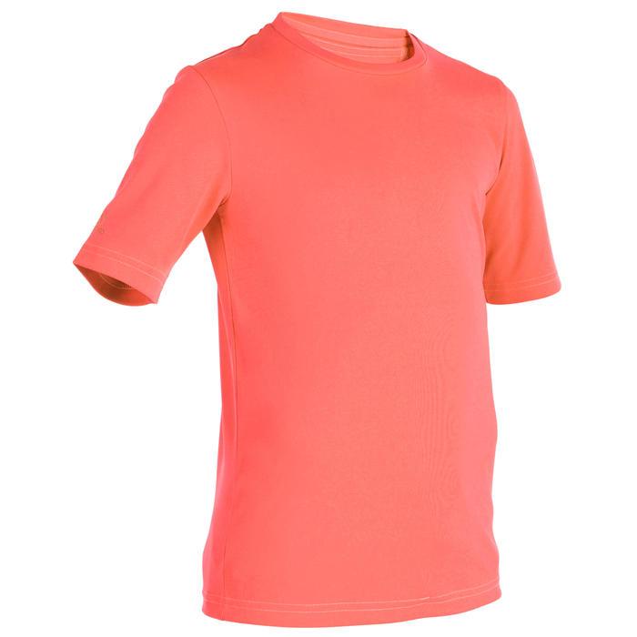water tee shirt anti UV Surf manches courtes Enfant corail