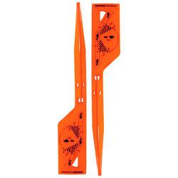 Markierungsfahnen im 30°-Winkel orange ×2