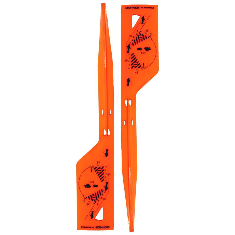 Piquets de battue marquage de l'angle des 30° orange X2.