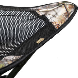 TRÍPODE Caza Solognac 500 Taburete ROTATIVO Ajustable 65 Cm camuflaje Marron