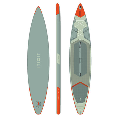 STAND UP PADDLE GONFLABLE RANDONNÉE X500 / 13''-31'VERT