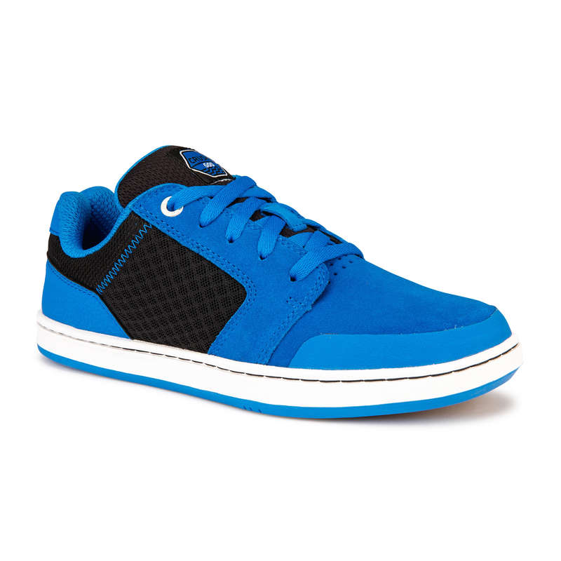 KIDS SKATEBOARD SHOES Skateboarding and Longboarding - Crush 500 Kids' - Blue/Black OXELO - Skateboarding and Longboarding