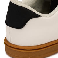 Chaussure de planche à roulettes pour enfant CRUSH 100 blanche et gomme