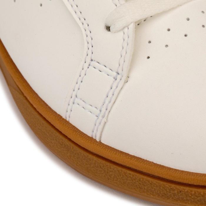 Chaussure de skate pour enfant CRUSH 100 blanche et gomme
