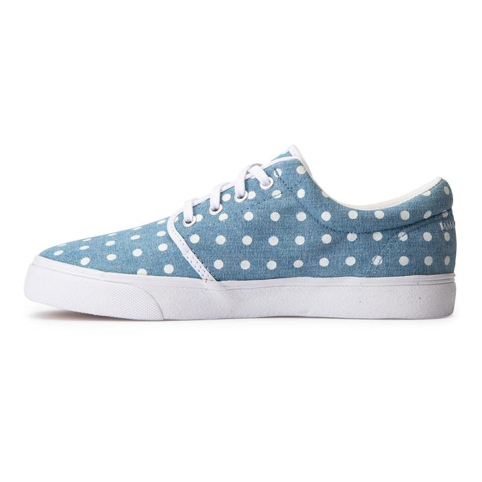 Zapatillas caña baja skateboard-longboard adulto VULCA 100 CANVAS L Denim