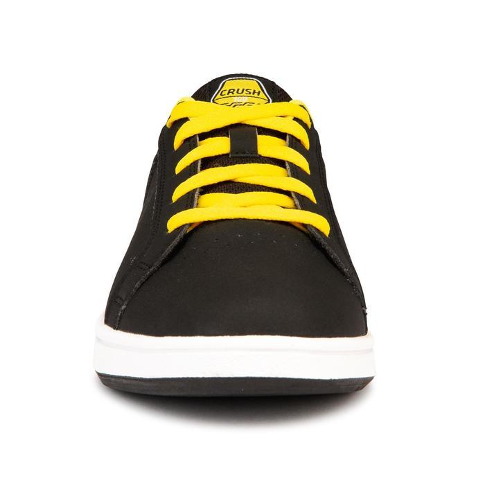 Chaussure de skate pour enfant CRUSH 100 Noire Jaune