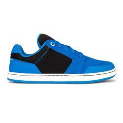 Chaussures basses de skateboard pour enfant CRUSH 500 bleu et noir